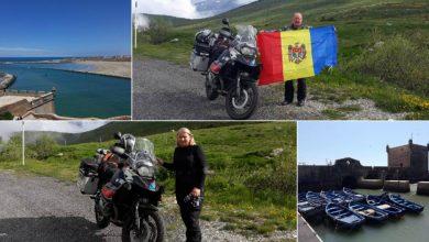 Photo of foto | Doi soți, pe două roți. O familie din Moldova a călătorit peste 13.000 de km cu motocicleta până în Africa