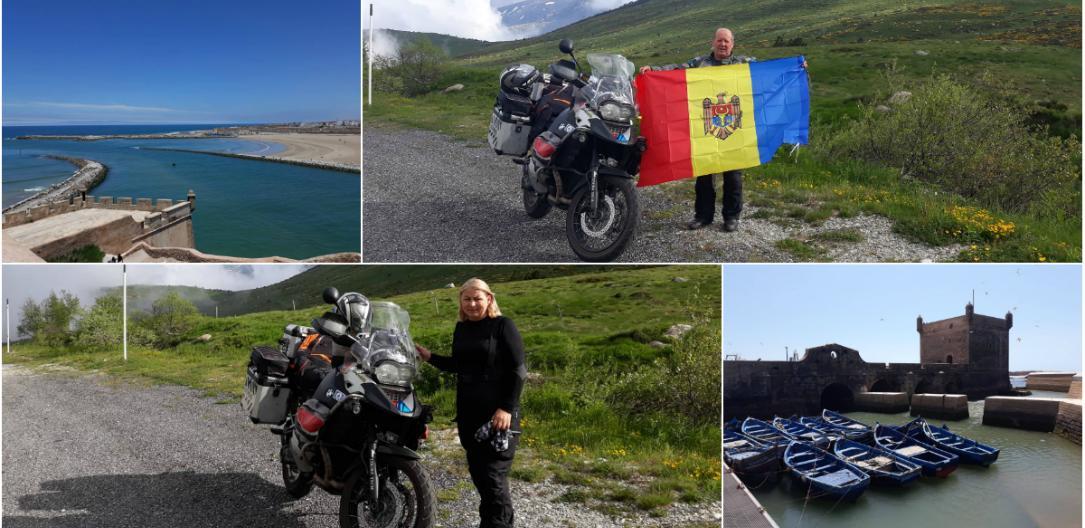 Photo of foto   Doi soți, pe două roți. O familie din Moldova a călătorit peste 13.000 de km cu motocicleta până în Africa