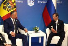 Photo of foto   Rugăminți fierbinți către Medvedev. Dodon îl roagă pe oficial să primească marfa moldovenească în Rusia