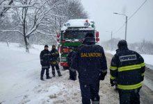 Photo of video   Intervențiile salvatorilor în ultimele 24 de ore: 37 de vehicule au fost deblocate din nămeți