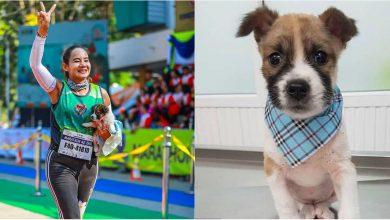 """Photo of video   Maraton """"înduioșător"""". Motivul pentru care o sportivă a alergat 20 de kilometri cu un căţeluş în braţe"""