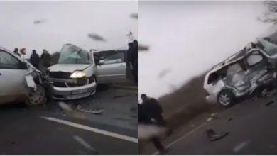 Photo of video | Accident teribil pe traseul Chișinău-Hâncești. Două mașini, făcute zob după ce s-au ciocnit violent