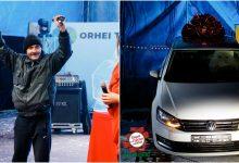 """Photo of video   Un bărbat din Orhei, marele câștigător al concursului """"Privește și Câștigă"""": a devenit posesorul unui Volkswagen Polo"""