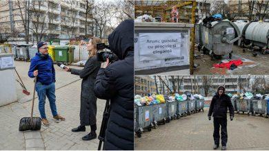 Photo of foto | Ieri psiholog, azi gunoier voluntar. Un tânăr din capitală a decis să facă ordine în cartierul său, dar și să schimbe viața unui boschetar