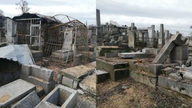 Photo of foto   Scene desprinse din filmele de groază în Cimitirul Evreiesc: Sute de morminte distruse și zeci de copacii doborâți