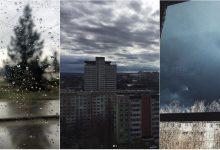 Photo of foto   Picături de ploaie la fereastră și un cer plin de nori întunecați. Cum se vede codul galben pe rețelele de socializare