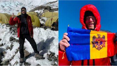 Photo of video | Un moldovean a urcat pe cel mai înalt punct de pe planetă. Ne-a arborat drapelul pe muntele Everest și a spus că-și iubește țara