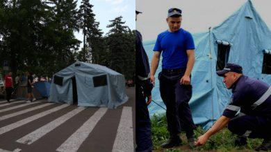 Photo of foto | Democrații neagă, inspectorii – confirmă. Unele corturi, în care se adăpostesc manifestanții aduși de PDM, ar aparține IGSU