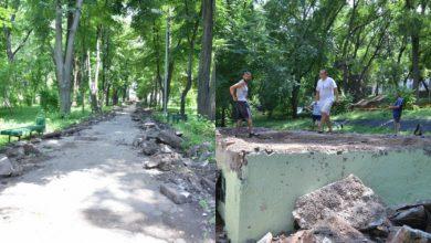 Photo of foto   O scenă, felinare și terenuri de fitness. Lucrările de renovare a Parcului Alunelul, în plină desfășurare