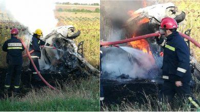 Photo of foto, video | O mașină a ars aproape în totalitate pe traseul Cahul-Vulcănești. Șoferul a decedat la fața locului