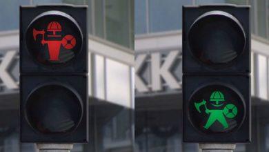 Photo of În loc de omuleți, pe semafoarele unui oraș danez au apărut mini-vikingi. Motivul pentru care autoritățile au înlocuit ilustrațiile tradiționale