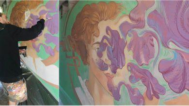 Photo of foto   A acoperit zona gri a orașului cu magia culorilor vii. O nouă pictură murală a lui Radu Dumbrava, vedetă la un festival din România