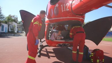 Photo of foto | Intervenție SMURD: Un bărbat din Edineț, adus cu elicopterul la Chișinău după ce a suferit într-un accident rutier