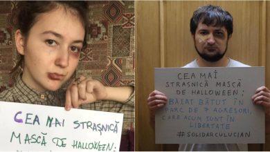 Photo of foto   Cum arată cea mai strașnică mască de Halloween? Internauții s-au solidarizat cu tânărul bătut de șapte studenți în centrul capitalei