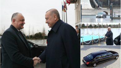 Photo of video | Mașina de un milion de euro cu care Dodon a mers la întâlnirea cu președintele turc