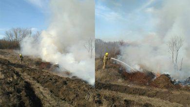 Photo of foto | 10 hectare de iarbă uscată, cuprinse de flăcări la Căușeni. Pompierii au luptat cu focul ore în șir