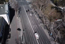 """Photo of video   Coronavirus: Străzi goale și """"strigăt"""" de ambulanțe. Pustietatea Chișinăului, văzută de la înălțimea zborului de pasăre"""