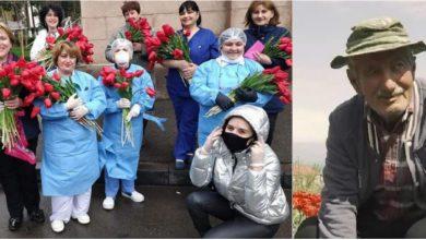 Photo of foto | Despre gesturi frumoase! Un bătrân, salvat de la faliment după ce mai mulți oameni i-au cumpărat florile şi le-au oferit doctorilor