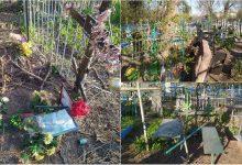 Photo of foto | Morminte, cruci și monumente vandalizate. Dezordinea dintr-un cimitir din Chișinău