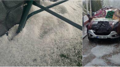 Photo of foto | Și nordul țării a fost afectat de grindină. Solul – acoperit de un strat gros de gheață
