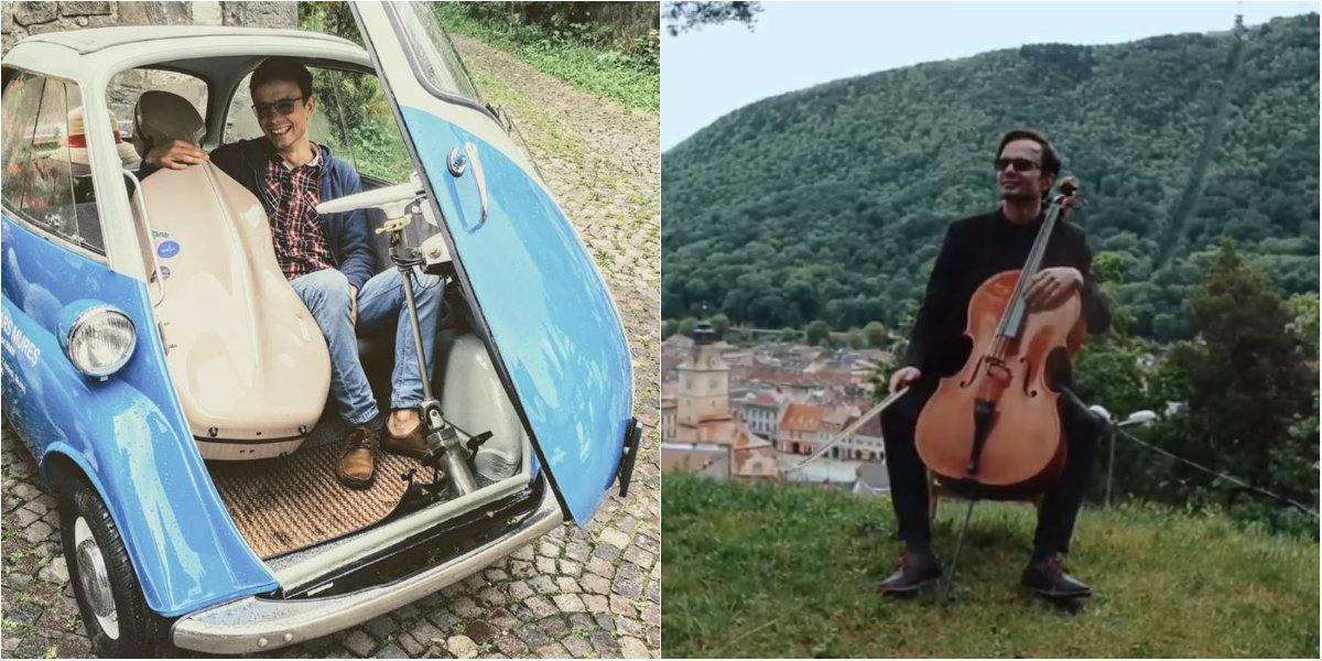 Photo of foto, video   Un muzician din Moldova vrea să descopere Transilvania împreună cu violoncelul său! Tu poți fi cel care îl va ajuta să își realizeze visul
