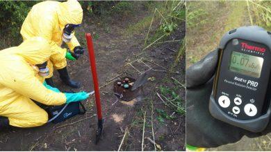 Photo of foto | Mai multe tuburi cu mercur au fost depistate într-o fâșie forestieră din Glodeni. Substanțele toxice sunt provenite din Ucraina