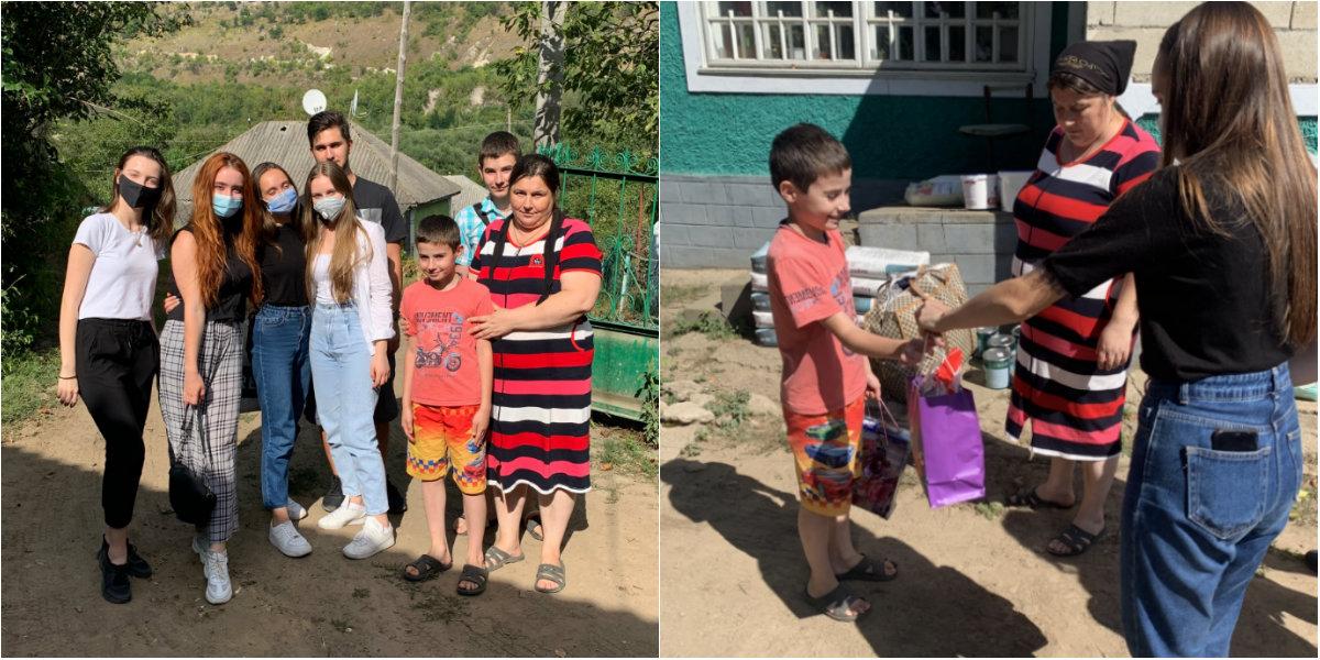 Photo of foto   Au adus fericire într-o familie în care mama suferă de tumoare cerebrală, iar tatăl a decedat de COVID-19. Gestul tinerilor de la Interact