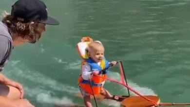 Photo of video | Record emoționant! Un copil de 6 luni a făcut schi nautic înainte să învețe să vorbească