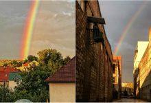Photo of foto | Fiecare ploaie are (și) un sfârșit bun! Un curcubeu de poveste a colorat azi norii gri de pe cerul Moldovei