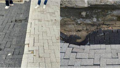 Photo of foto | Trotuarele în proces de renovare din centrul capitalei s-au deteriorat după ploaia de ieri. Explicația autorităților