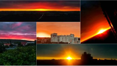 """Photo of foto   Cerul a devenit """"tomnatic"""" în această seară! Primul weekend din septembrie ne-a salutat cu un apus superb"""