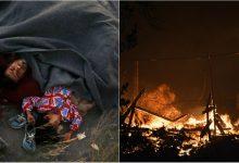 Photo of video | Cea mai mare tabără de migranți din Grecia, distrusă de un incendiu puternic! Oamenii au dormit în câmpuri