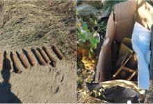Photo of foto   Un bărbat a găsit 12 obuze la Bubuieci. Proiectilele erau împachetate într-o cutie