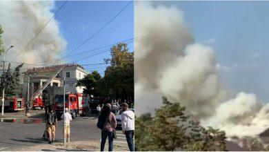 Photo of foto, video | Flăcările devastează Filarmonica Națională deja de câteva ore. Imagini și detalii de la fața locului