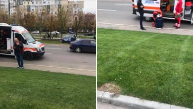 Photo of foto | Ciocana: O mașină s-a pornit din parcare și a dat peste o femeie care mergea pe trotuar