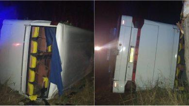 Photo of foto | Un autocar de pe ruta Chișinău-Moscova s-a răsturnat în Ucraina. În vehicul se aflau 37 de persoane