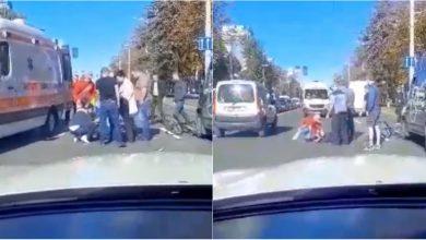 Photo of video | Un copil de 12 ani, tamponat în centrul capitalei. Adolescentul a fost transportat la spital