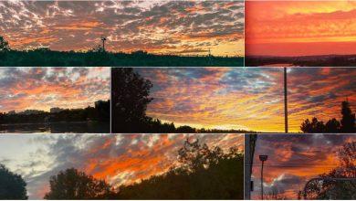 Photo of foto, video | Explozie de culoare pe cer! De hram, natura i-a oferit în dar Chișinăului un apus splendid