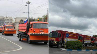 Photo of foto | 5 Kamaz-uri donate de ruși, expuse în centrul capitalei. Șoferii – supărați pe ambuteiaje, iar unii internauți amintesc de ajutorul românesc întâmpinat sub pod