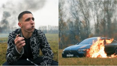 "Photo of video | Un vlogger rus și-a incendiat intenționat mașina. Milioane de oameni au privit cum ""ard 150.000 de euro"""