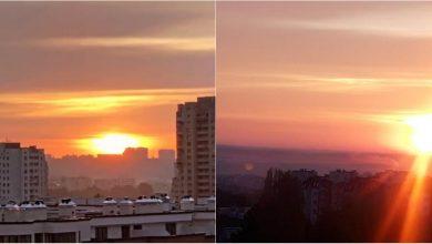 Photo of foto | Dans de culori pe cerul Moldovei în această dimineață. Răsăritul de poveste, surprins de internauți