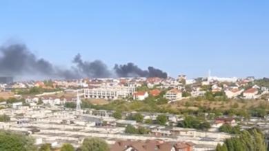 Photo of video | Incendiu la Ciocana. Flăcările au izbucnit într-o parcare de pe strada Mihail Sadoveanu