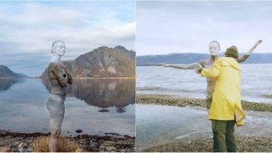 """Photo of foto, video   De parcă cerul """"ar săruta"""" suprafața apei! Proiectul unui artist care a vrut să redea legătura dintre om și natură"""