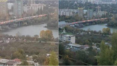 Photo of foto | Coloane de mașini pe podul de la Rezina. Alegătorii ar sta încă în rând ca să ajungă la secțiile de votare