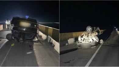 Photo of foto | Viteza face noi victime! Un bărbat a ajuns la spital după ce mașina pe care o conducea s-a răsturnat în această noapte
