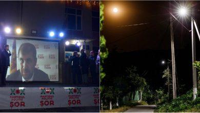 Photo of foto, video | Satul Zorile are iluminat stradal. Rețeaua electrică de patru kilometri, renovată de Partidul ȘOR