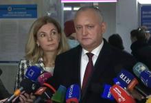 Photo of video   Igor și Galina Dodon, la ieșirea de la urne: Am votat pentru independența și statalitatea Republicii Moldova