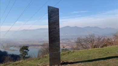 Photo of video | Un misterios monolit din metal, similar cu cel găsit recent în SUA, descoperit lângă o cetate dacică din România
