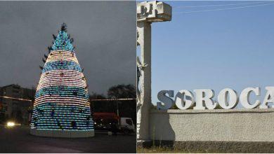"""Photo of Locuitorii din Soroca, nemulțumiți de aspectul bradului instalat în oraș: """"A stat și el în carantină"""""""