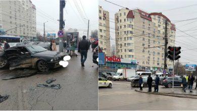Photo of foto, video | Accident rutier la Buiucani. Trei mașini s-au ciocnit, iar o persoană a ajuns la spital